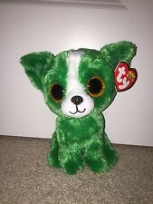 TY DILL GREEN DOG BEANIE BOOS, NEW, MINT TAGS,*HARD TO FIND-PLEASE READ