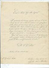 Lettera con Autografo Cardinale Engelbert Sterckx Mechelen Belgio al Card. Tosti
