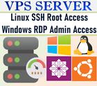 REMOTE DESKTOP SERVER / LINUX WINDOWS VPS SERVER  2 GB RAM + 80 GB HDD