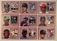 1983 Donruss Jumbo Lot of 17 Different Hall of Famer Baseball Cards