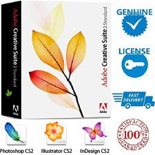 Adobe CS2 Creative Suite 2 - Photoshop Illustrator InDesign Acrobat + Tutorials