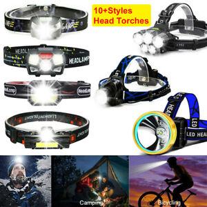 2X USB Rechargeable LED Headlamp Head Torch Flashlight Work light Headlight UK