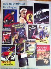 Vintage Paperback Book Art Poster Sweedish Artist Bertil Heggland Rare