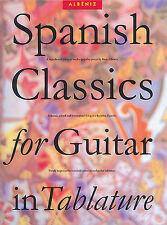 Spanish Classics For Guitar Easy Learn to Play Flamenco TAB Music Book