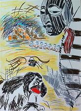 Carlos Pazos Lithographie signée numérotée Figuration Libre Pop Art Espagne