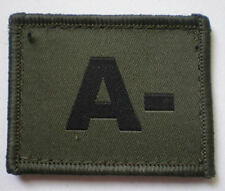 NEW OFFICIAL A- Ubacs blood patch, olive