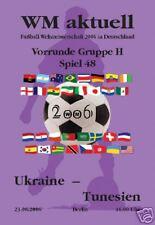 2006 World Cup Programme 48 Ukraine - Tunisia, 23.06.2006