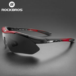 ROCKBROS Polarized Cycling Sport Glasses Bike Goggles Fishing Sunglasses 5 Lens