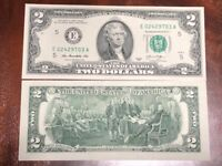 United States USA - 2 TWO Dollars 2013 BANKNOTE E- Richmond UNCIRCULATED XMAS