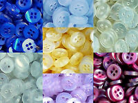 Small 10mm Blue Burgundy Lilac Yellow Clear 2 & 4 Hole Quality Buttons (ML05)