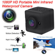 1080P Hd 155° Mini Infrared Waterproof Cube Action Camera Camcorder w/ Mounts Uk