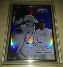 2017 TOPPS GOLD LABEL LEWIS BRINSON ON-CARD AUTO RC BLUE! 18/50