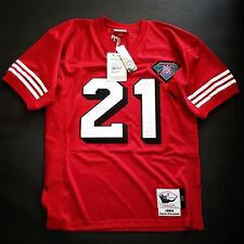 100% Authentic Deion Sanders Mitchell & Ness 49ers NFL Jersey Size Mens 52 2XL