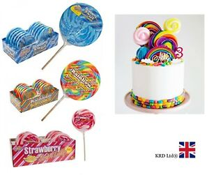 GIANT CANDY LOLLIES Baby Shower Birthday Party Bag Filler Rock Lolly Gift NEW UK