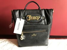 NWT JUICY COUTURE BOLD MOVE BLACK ZIP BACKPACK $89