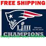 New England Patriots Super Bowl LIII 53 Champions 2018 2019 Flag Banner 3x5 NEW