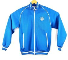 IBM Men's Jacket Clique Track Varsity Embroidered Full Zip Blue Size Small