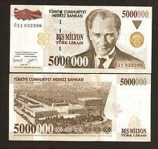 UNC $6 CV Turkey P212 500,000 Lirasi Ataturk // Martyrs/' Memorial OVI square