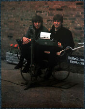 THE BEATLES POSTER PAGE . 1964 JOHN LENNON & GEORGE HARRISON . V15
