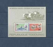 Togo bloc  sir Winston Churchill    de 1974    num:  84  non  dentelé  **