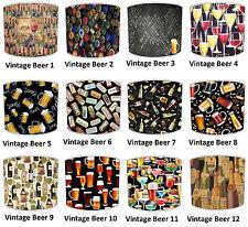 Retro Pantallas de Lámpara para Combinar Vintage Cerveza Spirit Vino Man Cave