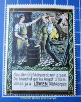 Cinderella/Poster Stamp - Germany 1900s Löwen Glühkörper - lamp mantles 9499