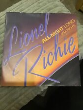 """Lionel Richie - All night long ( all night)     used 7"""" Single record"""