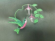 Waterproof Vinyl Backed  Fabric   With Embroidered apron Humming Bird