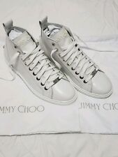 Jimmy Choo Men's Colt White Leather Star Studded Sneakers EU42 US9