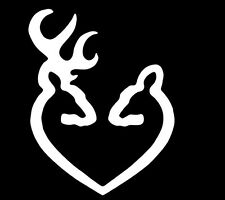 Browning heart deer buck hunting doe country window sticker vinyl decal #219