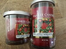 Yankee Candle BRAND NEW 2x RED APPLE WREATH Pillar Jars