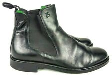 Roberto Botticelli Italy Men EU 45 US 12 Black Leather Chelsea Ankle Boot 42-3