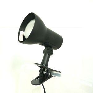 Small Clip On Swivel Lamp Reading Work Tilt 15cm Light Working Metal Black 6 B14