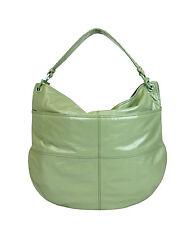 $3200 New Auth BOTTEGA VENETA Leather Hobo Bag w/Woven Detail,Green, 309343 3414