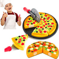 Children Kitchen Pizza Party Fast Food Slices Cutting Pretend Play Food Toy Eage