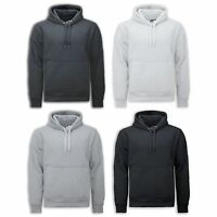NEW Men Plain Heavy Weight Pullover Sweater Hooded Long Sleeve Fleece Sweats