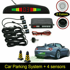 Car Auto Vehicle Reverse Backup Led Radar System with 4 Parking Sensors Us Stock