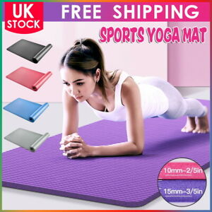 10mm 15mm Yoga Mat Non Slip Exercise Pilates Gym Picnic Camping Fitness Pads