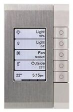 Clipsal C-BUS EDLT SWITCH 5-Buttons White Grid, Saturn PW Fascia STAINLESS STEEL