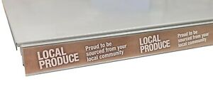 "10 x Shelf Edge/Ticket Rail Inserts ""Local Produce"" 995mm Long"
