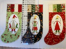 Christmas Stocking panel 11in wide x 20in length approx (when finished )