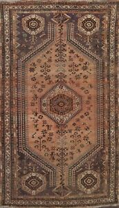 Antique Geometric Traditional Oriental Area Rug Wool Hand-knotted 5x8 ft Carpet