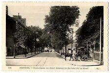 CPA 86 - POITIERS (Vienne) - 194. Boulevard du Pont Achard et Entrée de la Gare