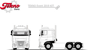 Tekno | 79785 DAF XF Euro 6 low roof 6x2 Truck Kit, 1:50 Scale NEW!