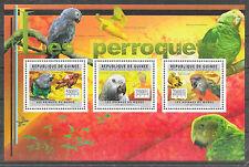 Vögel-Papageien/ Guinea MiNr 8888/90 ** Kleinbogen