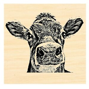 P121 Cow Rubber Stamp