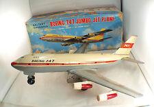 Nomura Japan Boeing 747 Jumbo Jet Plane moteur à piles 32 cm en boite avion RARE