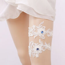 1pc Sexy Lace Bridal Garter Crystal Flower Beaded Wedding Bride Prom Hen Party