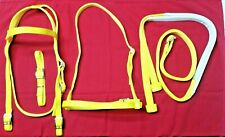 New Nylon Race Bridle~Headstall, Chin Strap, Noseband, Reins~Yellow-Horse Racing