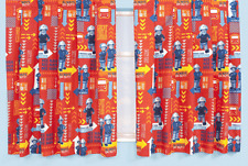 Pompiere SAM 'Allarme' 66 x 72 Pollici Goccia Coppia Tende Nuovo di Zecca REGALO